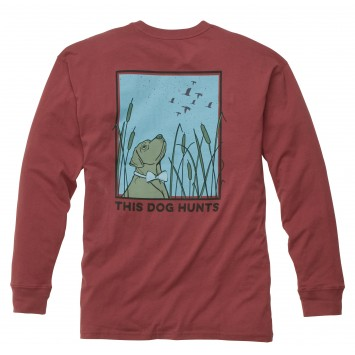 This Dog Hunts: Rust Red Long Sleeve